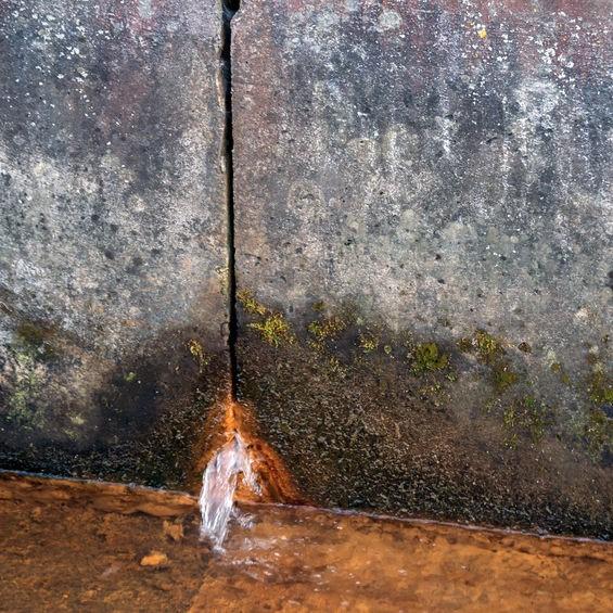 leak through a slab