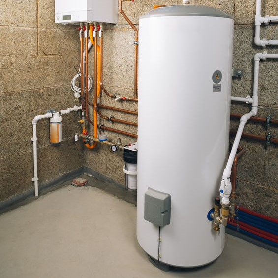 installation of water heater in basement